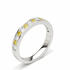 Platinum Yellow Diamond Rings