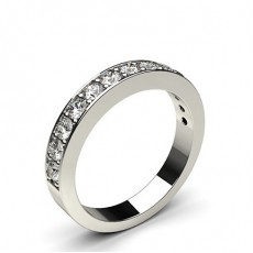 Pave Setting Half Eternity Diamond Ring
