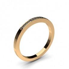 Rose Gold Black Diamond Women's Wedding Bands Bands