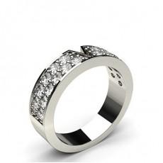 Round Platinum Diamond Women's Wedding Bands