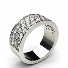Round White Gold Anniversary Diamond Rings