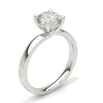 Buy White Gold Round Diamond Engagement Ring Online UK Diamonds