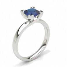 Princess White Gold Gemstone Engagement Rings