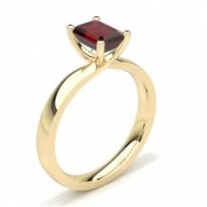 Emerald Yellow Gold Gemstone Engagement Rings