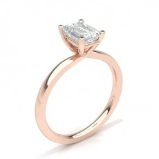 Emerald Rose Gold Solitaire Engagement Rings