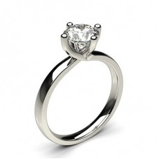 White Gold Round Diamond Ring