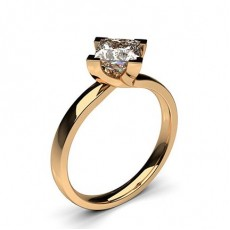Princess Rose Gold Diamond Engagement Rings