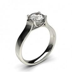 Bague de fiançailles solitaire diamant serti 4 griffes