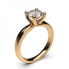 Oval Or Rose  Solitaire Bague de fiançailles