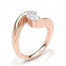Pear Rose Gold Engagement Rings