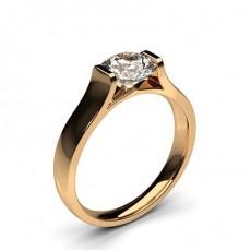 Brilliant Rotgold  Solitäerringe Verlobungsringe