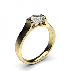 Round Yellow Gold Solitaire Engagement Rings