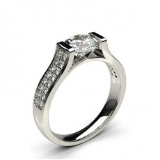 Channel Setting Diamond Engagement Rings