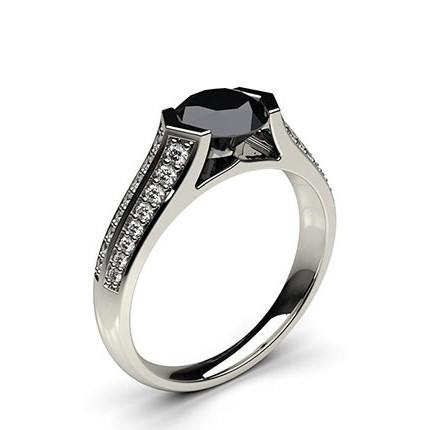 bague diamant noir solitaire