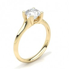 Pear Yellow Gold Diamond Engagement Rings