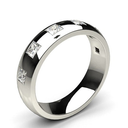 6.00mm Studded Low Dome Comfort Fit Mens Wedding Band