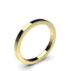 Flat Profile Standard Fit Classic Plain Wedding Band