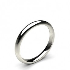 High Dome Comfort Fit Classic Plain Wedding Band