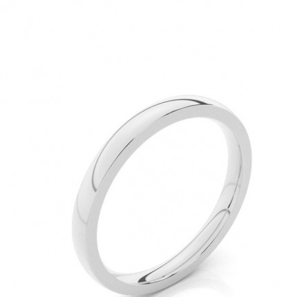 2.30mm Court Profile Comfort Fit Classic Plain Wedding Band