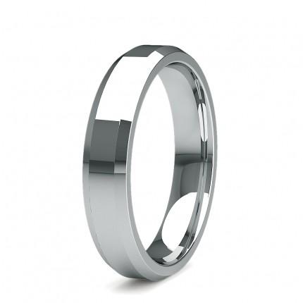 4.00mm Beveled Profile Comfort Fit Plain Wedding Band
