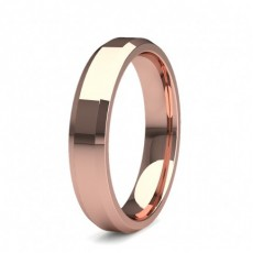 4.00mm Beveled Profile Comfort Fit Plain Wedding Band