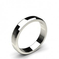Beveled Profile Standard Fit Classic Plain Wedding Band