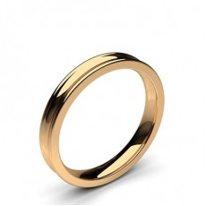 Rose Gold Contemporary Wedding Bands Bands