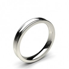 Platinum Contemporary Wedding Bands Bands