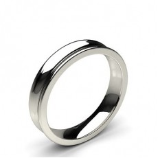 Concave Profile Comfort Fit Classic Plain Wedding Band