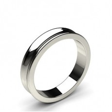 Concave Profile Standard Fit Classic Plain Wedding Band