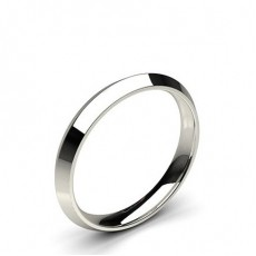 Knife Edge Comfort Fit Classic Plain Wedding Band