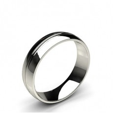 Groove Comfort Fit Classic Plain Wedding Band