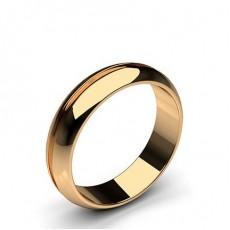 Rose Gold Wedding Bands Men Plain