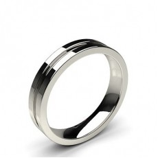4.00mm Groove Comfort Fit Classic Plain Wedding Band