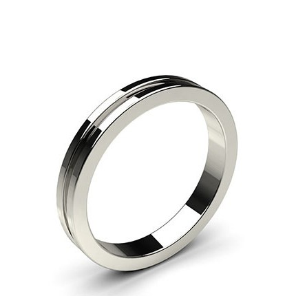 Groove Standard Fit Classic Plain Wedding Band