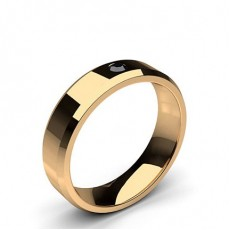 Round Rose Gold Black Diamond Men