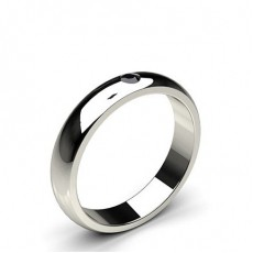 Studded Low  Dome Standard Fit Black Diamond Wedding Band