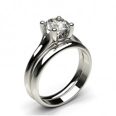 White Gold Bridal Set Diamond Engagement Ring