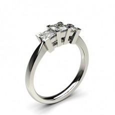 White Gold 3 Stone Diamond Rings