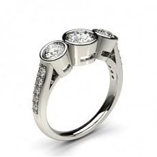 Full Bezel Setting Diamond Engagement Rings