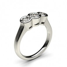 Semi Bezel Setting Engagement Rings