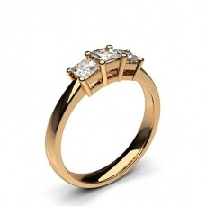 Rose Gold 3 Stone Diamond Rings