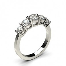 Round  5 Stone Diamond Rings