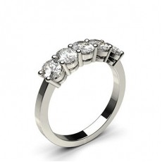Oval White Gold Anniversary Diamond Rings