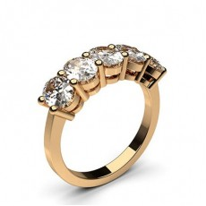 Oval Rose Gold Diamond Rings