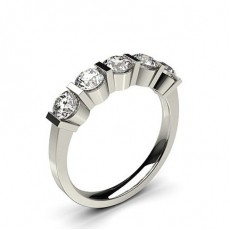 White Gold 5 Stone Diamond Rings