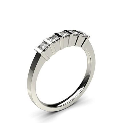 Bar Setting Plain Five Stone Ring