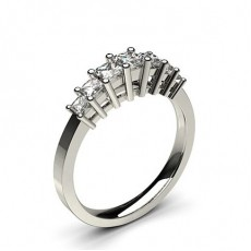 Princess Platinum Anniversary Diamond Rings