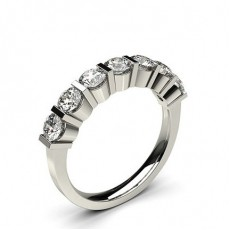 Platinum 7 Stone Diamond Rings