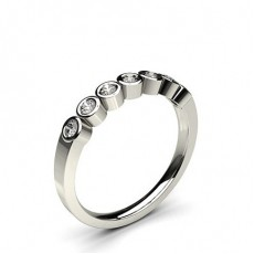 Round White Gold 7 Stone Diamond Rings